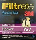 yz vacuum bags - 3M Hoover Pet Odor Absorber Vacuum Bags *Special 6 boxes = 18 BAGS*