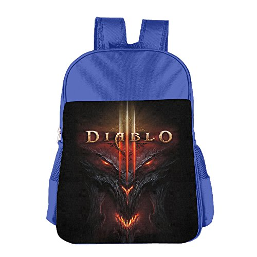 [STALISHING Kid's ARPG Diablo 3 Fathom Studios Logo School Bag Backpack] (Diablo Reaper Of Souls Costume)