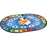Constructive Playthings Sunny Days Oval 6'9'' X 9'5'' Learning Rug