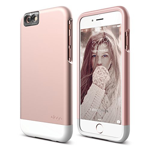 iPhone 6S Case, elago [Glide Cam][Rose Gold / White] - [Mix and Match][Premium Armor][True Fit] – for iPhone 6S Only