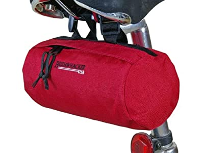 Bushwhacker Waco Red - Bicycle Handlebar & Seat Bag Cycling Pack Bike Cylinder Saddle Bag Front Rear Frame Accessories