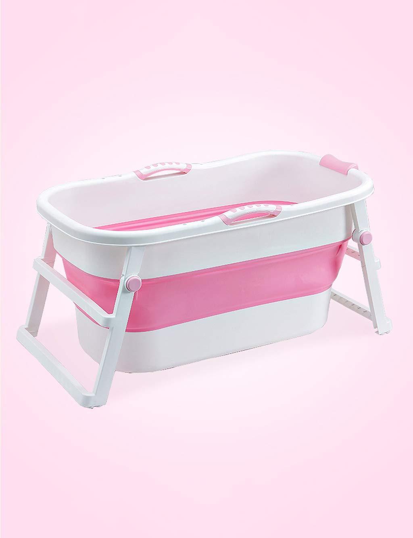 PIPIXIA Faltbare Badewanne für den Haushalt, Babybadewanne & Badewanne für Erwachsene & japanische getränkte PSA-Badewanne, Flexibler, höhenverstellbarer Kunststoff (Farbe : Green)