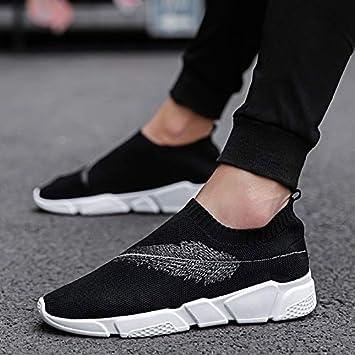 HCBYJ Calcetines zapatos Zapatos de los Calcetines del otoño Zapatos de los Hombres Respirables Zapatos de