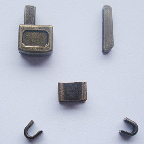Brass Retainer (2 sets bronze #10 metal zipper head box zipper sliders retainer insertion pin easy for zipper repair,Zipper Repair Kit (#10))