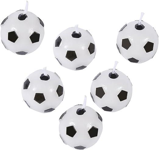 GLOGLOW - Juego de 6 Velas de Fútbol para Fiesta de Cumpleaños ...