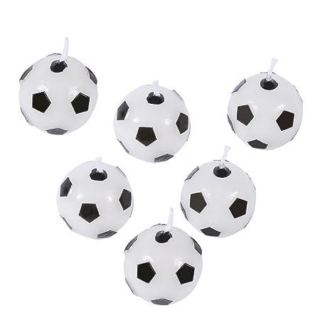 GLOGLOW - Juego de 6 Velas de Fútbol para Fiesta de ...