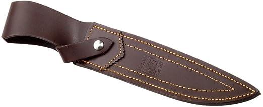 Funda de Cuero Camping y Senderismo Herramienta de Pesca Caza Joker Cuchillo de Cazador Zorro CC35 con pu/ño de asta de Ciervo y Hoja de 20,5 cm