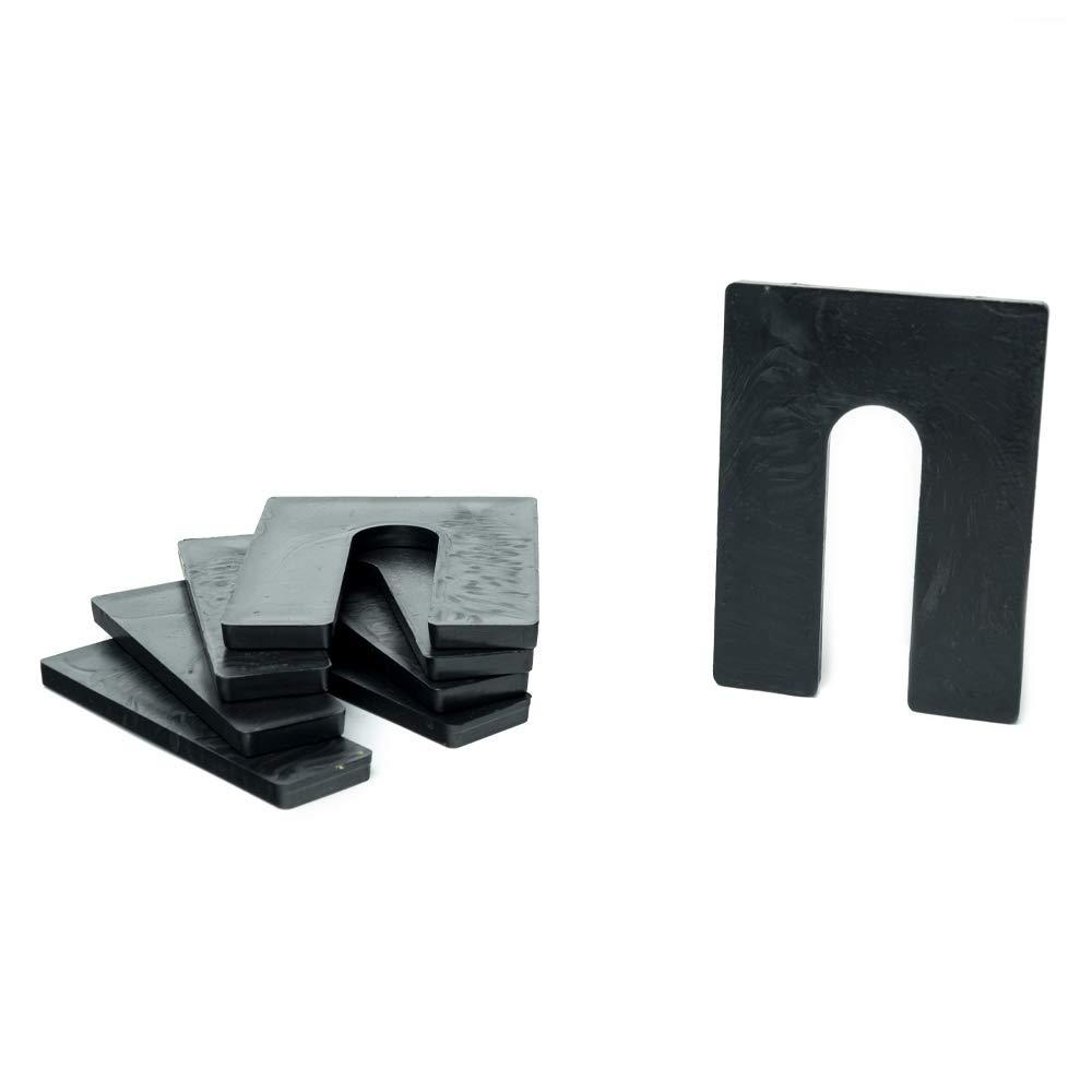 1/4'' x 3'' x 4'' Plastic Shims Structural Horseshoe U Shaped, Tile Spacers, Black, Quantity 100 by Bridge Fasteners by Bridge Fasteners