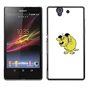 Qstar Arte & diseño plástico duro Fundas Cover Cubre Hard Case Cover para Sony Xperia Z / L36H / C6602 / C6603 / C6606 / C6616 ( Dog Cartoon Comic Character Drawing Art)