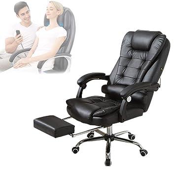 Moderne Lederen Bureaustoel.Amazon Com Mc Pig Massage Office Chairs Bureaustoel Lederen