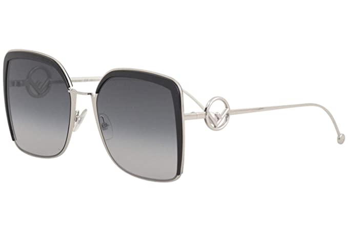d8bc4ba2dc1a Fendi F is Fendi Metal Square Sunglasses in Black FF 0294 S 807 58 58  Gradient Grey Black  Amazon.co.uk  Clothing