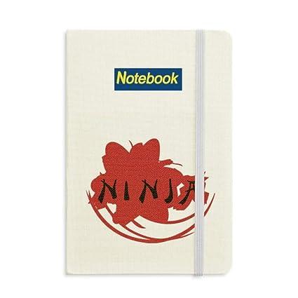 Amazon.com : Japan Ninja Words Sakura Silhouette Notebook ...