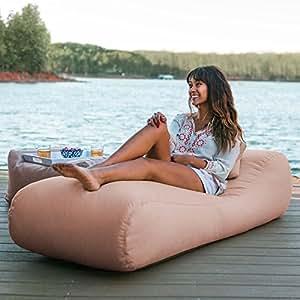 Amazon.com: Jaxx Arlo puf tumbona reclinable | Piscina y de ...