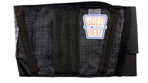 The Original Gold Belt Two Cool Motorcycle Kidney Belt (Black/Black)