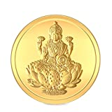 BlueStone Women's BIS Hallmarked 24k, 2 gms Lakshmi Gold Coin
