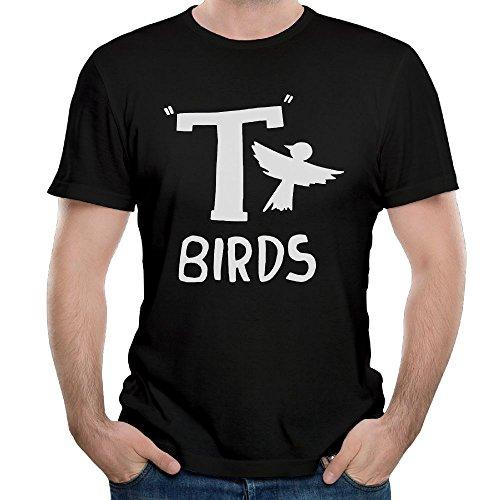 Black Mens T Grease Shirt Dress Fancy Birds Fit T x87x41