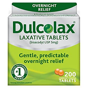 Amazon.com: Dulcolax Laxative Tablets, 25 Count (Pack of 2), Gentle, Reliable Overnight Relief from Constipation, Hard, Dry, Painful Stools, and Irregular ...