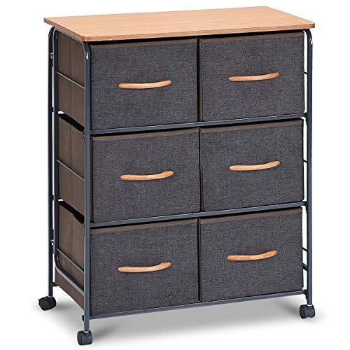 Amazon.com: 6-Drawer Fabric Display Dresser Storage ...