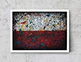 Polish Flag, Hand-Painted Flag of Poland, Distressed Flag, Vintage Mixed Media Art, Rustic, Industrial Style, Flag Painting