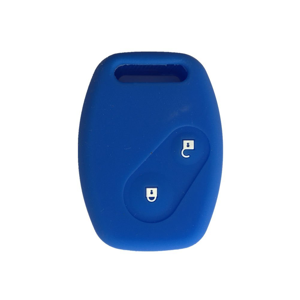 Ezzy Auto Navy Blue Silicone Protective Case Cover Holder replacement fit for Honda 2 Buttons Remote Key 2 Buttons