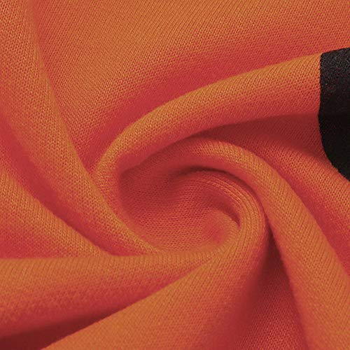 Stampa Top Maniche Zucca Topgrowth Lunghe Donna Halloween Arancia Camicetta A Casual Blusa Camicia Maglietta wqqn7C4