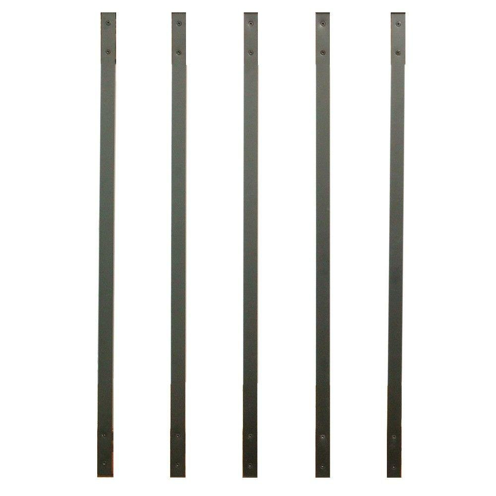 32.25-inch Rectangle Facemount Baluster Charcoal GRAY (previously Bronze) Smooth- 5 Pack