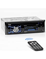 BOSS Audio Systems 508UAB Multimedia Car Stereo – Single Din, Bluetooth Audio and Hands-Free Calling, Built-in Microphone, CD/MP3/USB/AUX Input, AM/FM Radio Receiver, LCD Display, Wireless Remote Control