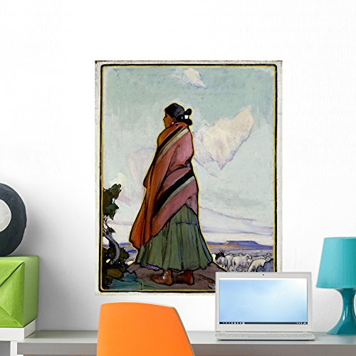 Navajo Shepherdess Ira Diamond Wall Mural Wallmonkeys Peel and Stick Graphic (24 in H x 19 in W) WM157237