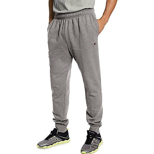 Champion Men's Powerblend Retro Fleece Jogger Pant_Oxford Grey_S