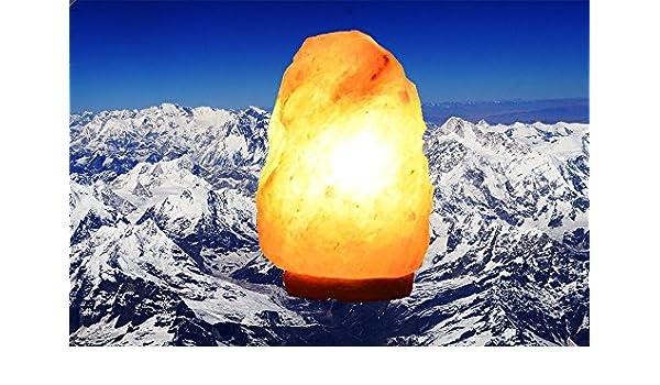 Lámpara de cristal de sal de roca del Himalaya Terapéutica Natural Sal Interruptor Regulador de intensidad de luz con peso 15 W, 2 – 3 kg, purificador de aire perfecto para Ansiedad
