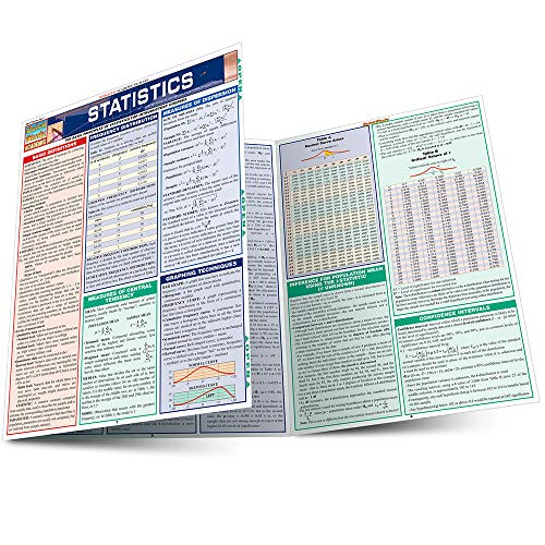 Statistics Laminate Reference Chart: Parameters, Variables, Intervals, Proportions (Quickstudy: Academic ) (Major Field Test In Business Study Guide)