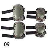 WXLAA Body Armor Knee Elbow Arm Protective Guard Pads airsoft knee pads for Outdoor Riding Cycling Motorcross Climing Skating, 4 Pcs