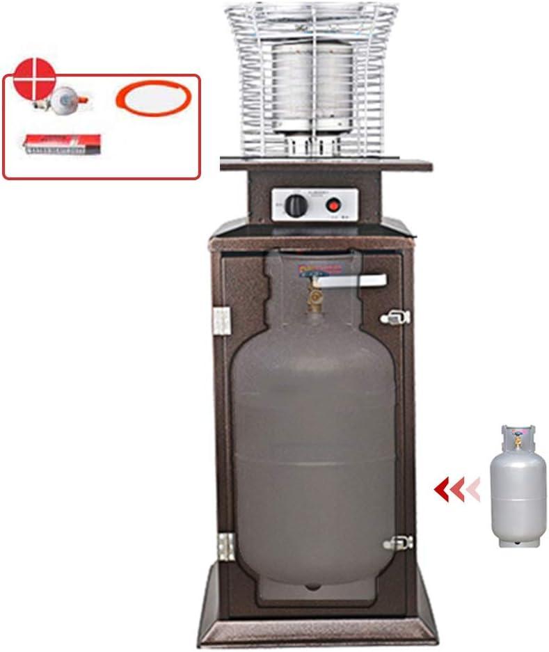 Calentador De Patio LTABC Calentador De Jardín Para Exteriores Calentador De Gas Licuado De Propano Con Accesorios Calefacción Multifunción 360 ° Ahorro De Energía / Protección Del Medio Ambiente
