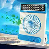 Zehui LED Table Lamp and Flashlight for Home Outdoor Camping Portable USB Mini Solar Fan Light