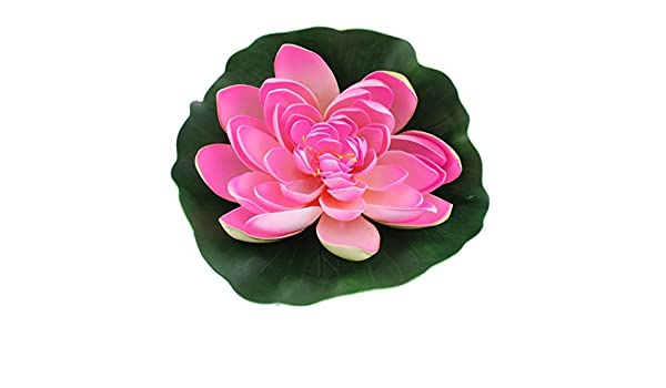 Amazon.com : eDealMax espuma del tanque del acuario de Emulational Flor de Loto rosa Verde ornamento planta : Pet Supplies