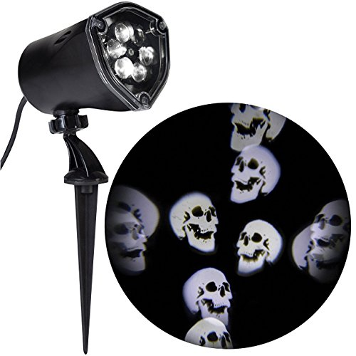 Gemmy Halloween Light Projector, Whirling Skulls LED Spotlight Projection Kaleidoscope Light Show (Scary Halloween Light Show)