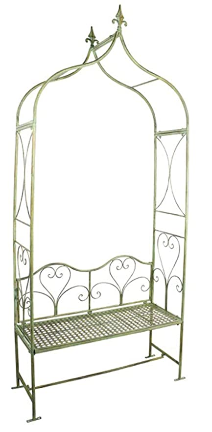 Prime Amazon Com Serendippity Arbor Garden Arch With Bench 95 Squirreltailoven Fun Painted Chair Ideas Images Squirreltailovenorg