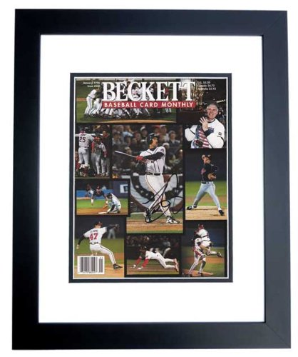 Dave Justice Signed - Autographed Beckett Magazine Cover BLACK CUSTOM FRAME - Atlanta Braves 1995 World Series Champions - PSA/DNA Certificate of Authenticity (COA)