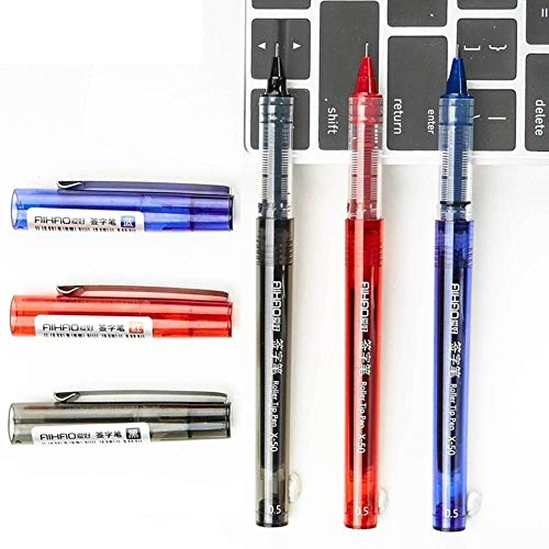 6 pcs/Lot Transparent roller tip pen 0.5mm ballpoint pens for writing signature Stationery Office tools school supplies (6 Pcs Blue)