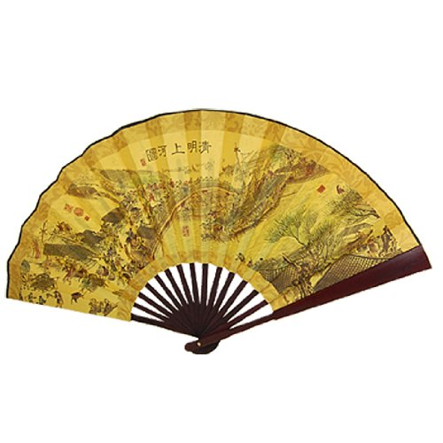 yellow folding fan - 9