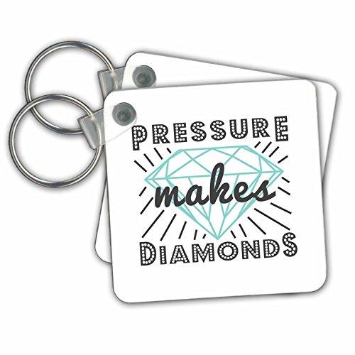 Janna Salak Designs Text Art - Pressure Makes Diamonds - Key Chains - set of 6 Key Chains (kc_261621_3) (Diamond Pressure Set)