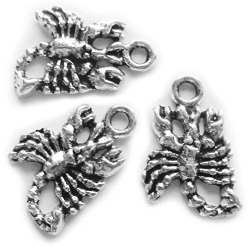 100 Pieces Scorpion Antique Silver Pendants for Jewelry Making Supplies Bracelet Necklace Jewelry Accessories Beading
