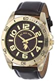 U.S. Polo Assn. Classic Men's USC50012 Analogue Brown Dial Leather Strap Watch
