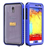 Wellzly Best Waterproof Cell Phone Case for SAMSUNG NOTE2/N7100 Upgraded full-function keys,Underwater Shockproof Dirtpoof Protection Cover (blue)
