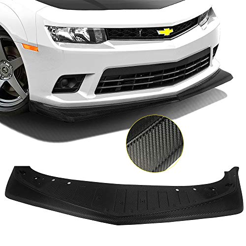 Front Bumper Lip Fits 2014-2015 Chevy Camaro SS & Z/28 | Z28 Style Unpainted PP Air Dam Chin Splitter Spoiler Lip by IKON MOTORSPORTS ()