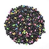 CNZ Aquarium Gravel Black & Flourescent Mix for Plant Aquariums, Landscaping, Home Decor, 0.25''-0.35'', 5-pound