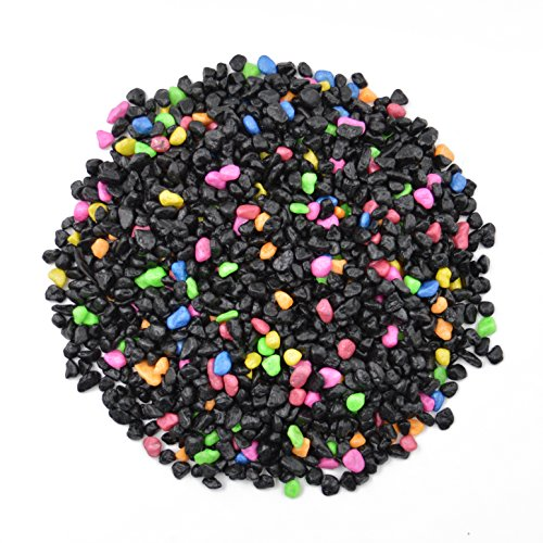 - CNZ Aquarium Gravel Black & Flourescent Mix for Plant Aquariums, Landscaping, Home Decor, 0.25