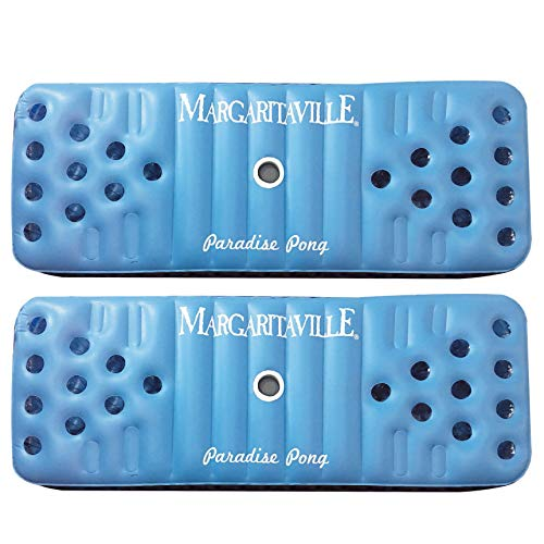 Margaritaville Inflatable Floating Paradise Pong Swimming Pool Float Lounge Mat (2 Pack) ()