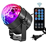 Led Sound Activated Party Lights Disco Ball DJ Strobe Club Lamp 7 Modes Magic Mini Led Stage Lights for Christmas Home Room Dance Parties Birthday DJ Bar Wedding Show Club Pub