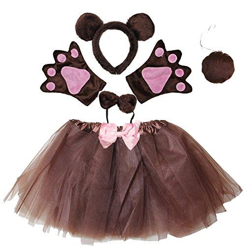 Brown Bear Costume Ears (Kirei Sui Kids Costume Tutu Set Brown Bear)